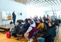 2月25日プロアングラーのトークショーで大いに盛り上がる。
